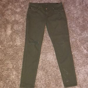 7 for all mankind olive green jeans - size 32